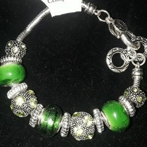True Green and Silver Bracelet
